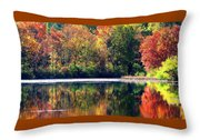 Autumn At Laurel Lake Throw Pillow