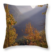 Autumn At Logan Pass Throw Pillow