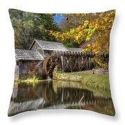 Autumn At Mabry Mill Throw Pillow