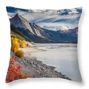 Autumn At Medicine Lake Throw Pillow