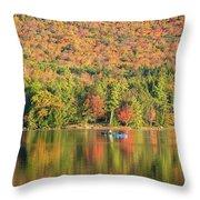 Autumn At North Lake Throw Pillow