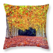 Autumn At Shinjuku Park Throw Pillow