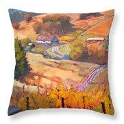 Autumn At Silvan Ridge Throw Pillow