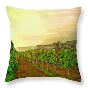Autumn At Steenberg Throw Pillow
