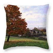 Autumn At Stirling Bridge Throw Pillow