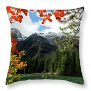 Autumn At String Lake Throw Pillow