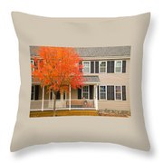 Autumn At The Inn Throw Pillow