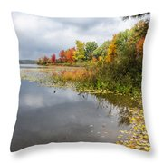 Autumn At The Lake In Nh Throw Pillow