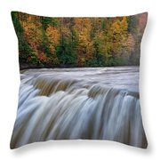 Autumn At The Middle Falls  Throw Pillow