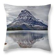 Autumn At Two Medicine Lake Throw Pillow