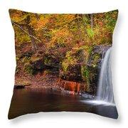 Autumn At Wolf Creek Falls Throw Pillow