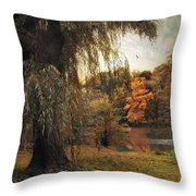 Autumn Awaits Throw Pillow