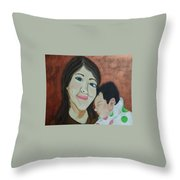 Autumn Baby Throw Pillow