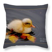 Autumn Baby Throw Pillow by Jacky Gerritsen