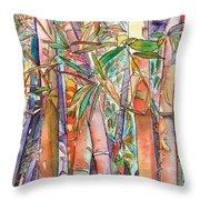Autumn Bamboo Throw Pillow