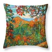 Autumn Beauty From Sharp Top Throw Pillow