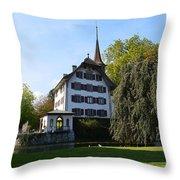 Castle In September Throw Pillow