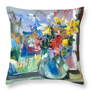 Autumn Behind The Window Throw Pillow