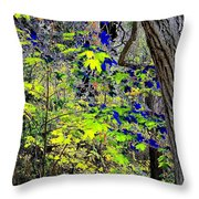 Autumn Blue  Throw Pillow