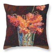Autumn Bouquet Of Ashberries Throw Pillow