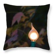 Autumn Bulb Throw Pillow