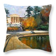 Autumn By Delaware Lake Throw Pillow