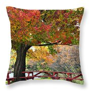 Autumn By The River On 105 Throw Pillow