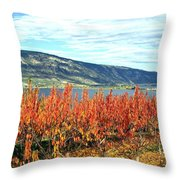 Autumn Cherry Orchard Throw Pillow