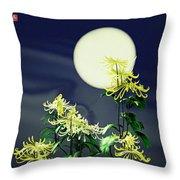 Autumn Chrysanthemums 2 Throw Pillow