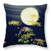 Autumn Chrysanthemums 4 Throw Pillow by GuoJun Pan