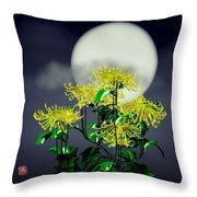 Autumn Chrysanthemums Throw Pillow by GuoJun Pan