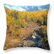 Autumn Color Along Beaver River Throw Pillow