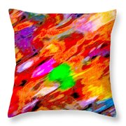 Autumn Color Blurs 144 Throw Pillow