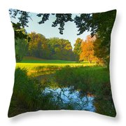 Autumn Colors In A Park Throw Pillow