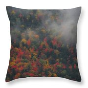 Autumn Colors In The Clouds Throw Pillow