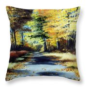 Autumn Colors Throw Pillow by Paul Walsh