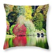 Autumn Colours By The Lake Throw Pillow