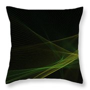 Autumn Computer Graphic Line Pattern Throw Pillow