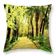 Autumn Corridor Throw Pillow