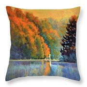 Autumn Day Rising Throw Pillow