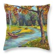 Autumn Daze Splendor  Throw Pillow