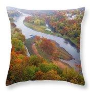 Autumn Down Below Throw Pillow
