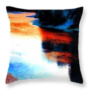 Autumn Down By The River Throw Pillow