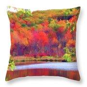 Autumn East Coast I Throw Pillow