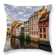 Autumn Evening In Petite France Throw Pillow by Dmytro Korol