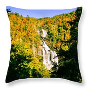 Autumn Falls Throw Pillow by Tom Zukauskas