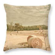 Autumn Farming And Agriculture Landscape Throw Pillow