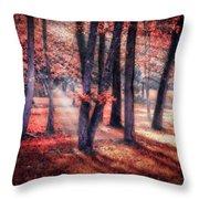 Autumn Firelight Throw Pillow