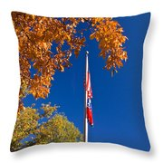 Autumn Flag Throw Pillow