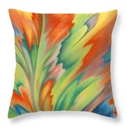 Autumn Flame Throw Pillow by Lucy Arnold